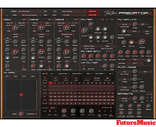 Rob Papen Soundware Upgrades Predator To Version 2.0 | FutureMusic the latest news on future music technology DJ gear producing dance music edm and everything electronic