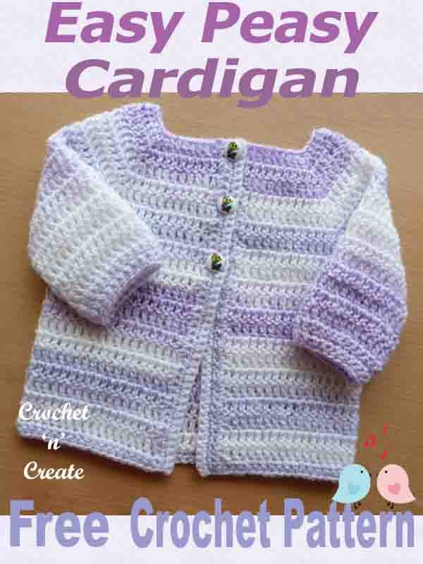 Crochet for instructions easy cardigan baby women free pattern quotes