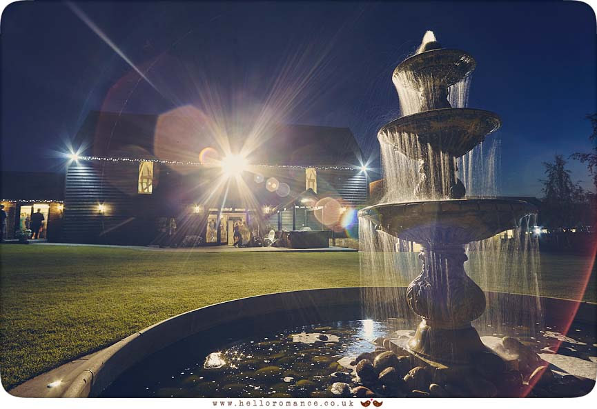 Crondon Park Wedding Venue, Stock, Chelmsford, Essex, night-time - www.helloromance.co.uk