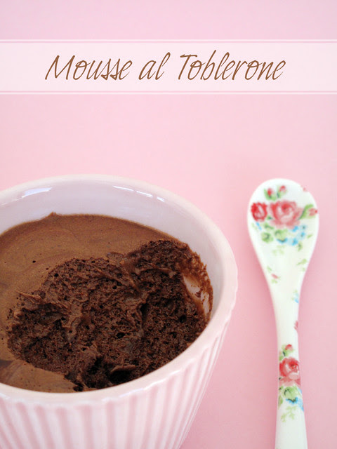 Mousse al toblerone