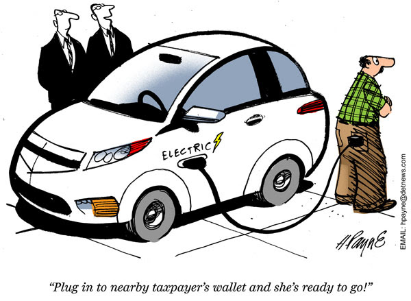 Image result for electric cars subsidies cartoon