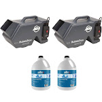 American DJ Portable Bubble Machine & Chauvet Unscented Bubble Fluid (2 Pack) by VM Express