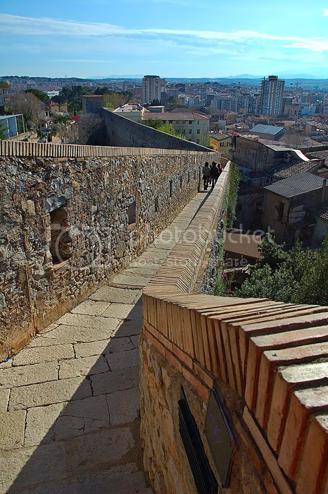 The Wall Walk in Girona, Catalonia