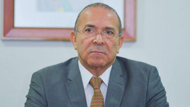 O ministro Eliseu Padilha (Casa Civil) em reunião com representantes sindicais