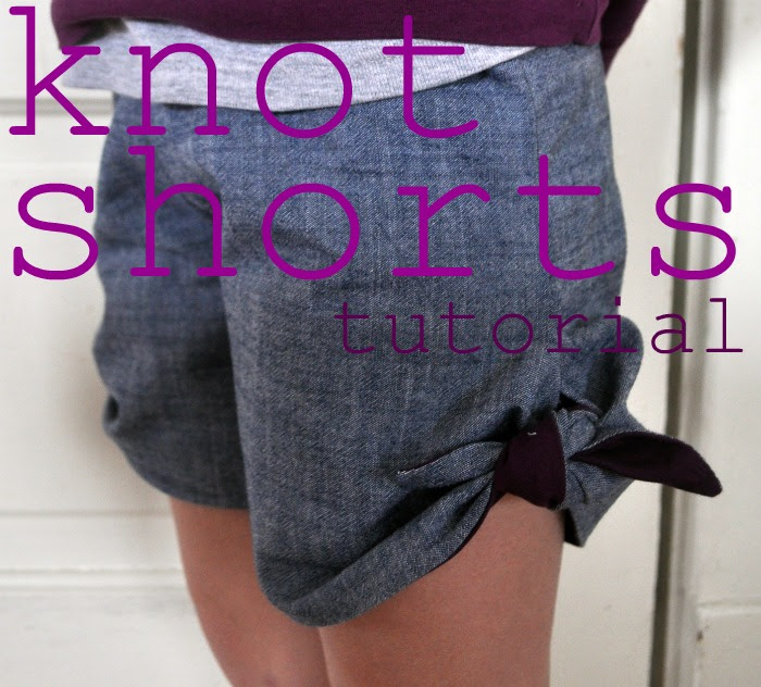 knot shorts tutorial by elsie marley