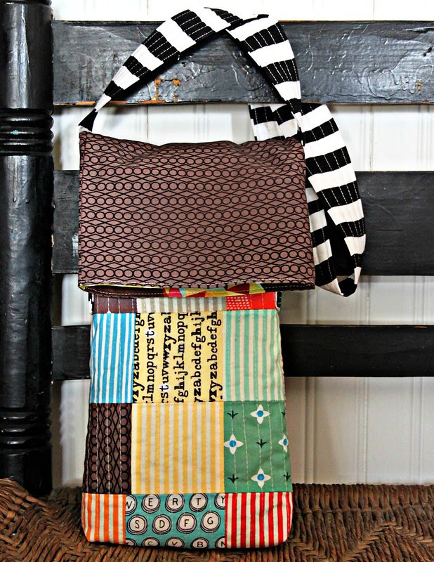 Cross Body Patchwork Satchel