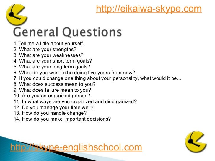 Business English interview questions