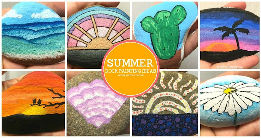 5 Easy summer themed rocks you will love to recreate