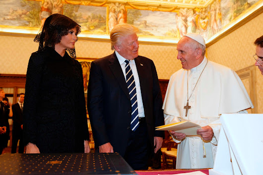 Pope welcomes Trump at the Vatican despite past disagreements