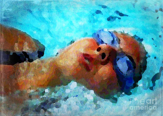 Backstroke Digital Art by Diann Fisher