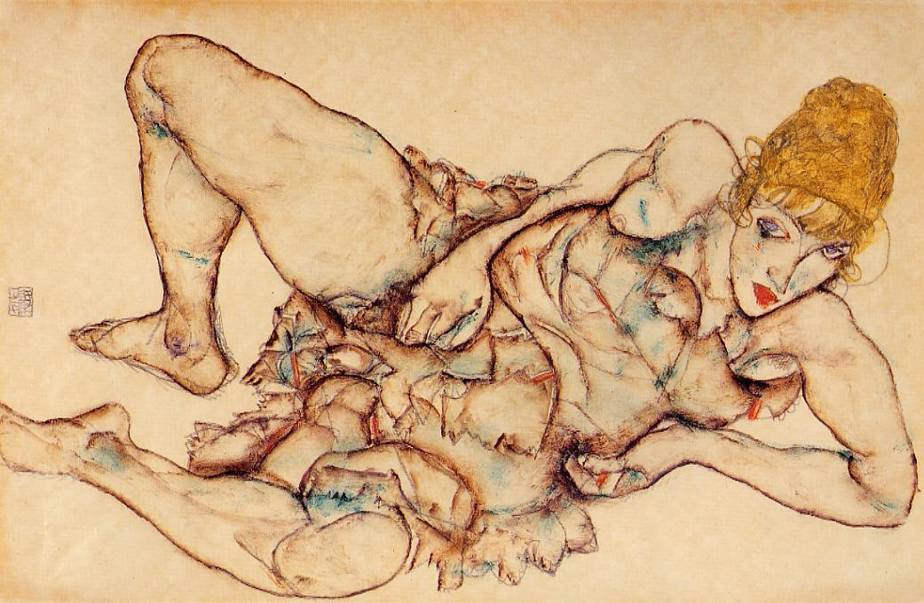 Reclining Woman with Blond Hair, 1914