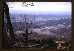 A woman painting a view of the Shenandoah Vall...