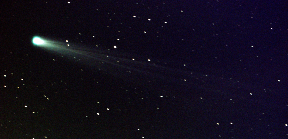 Comet ISON, approximately 44 million miles from the sun, and 80 million miles from Earth, moving at a speed of 136,700 miles per hour.