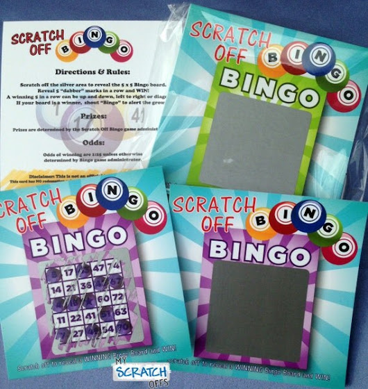 Scratch Off Bingo Game Cards for Party Favors by MyScratchOffs