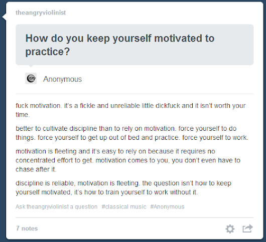 A different perspective on motivation.