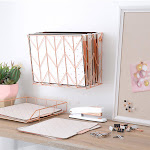 U Brands Desktop Filing Set, Rose Gold