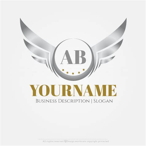 logo maker silver wings logo design template