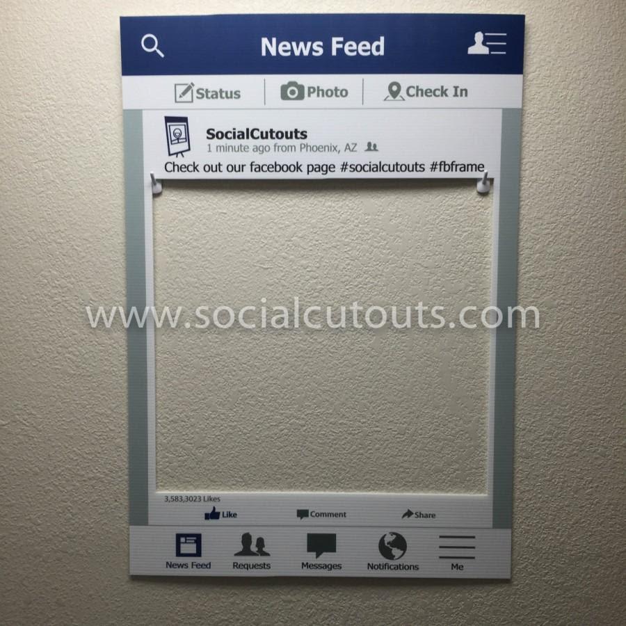 Large Printed Shipped Facebook Cutout Frame Prop 2445461 Weddbook
