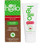 Hello Products Kids Fluoride Free Toothpaste Natural Watermelon 4.2 oz.