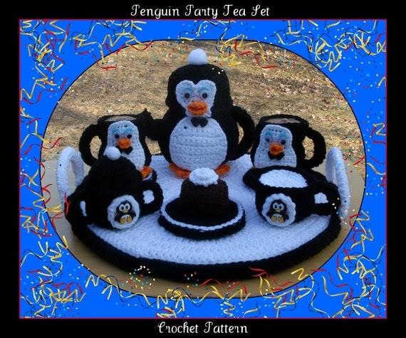 Penguin Party Tea Set Crochet Pattern