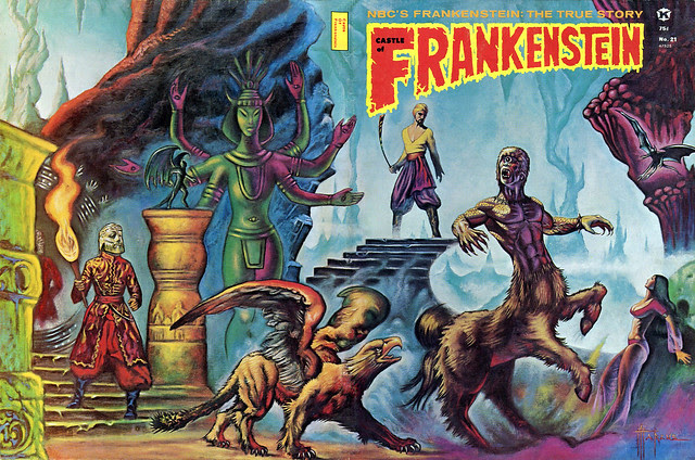 Castle Of Frankenstein, Issue 21 (1974) Cover Art by Marcus Boas