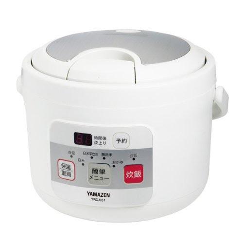山善(YAMAZEN) マイコン式炊飯ジャー 炊飯器(約3合) YRC-051(W)