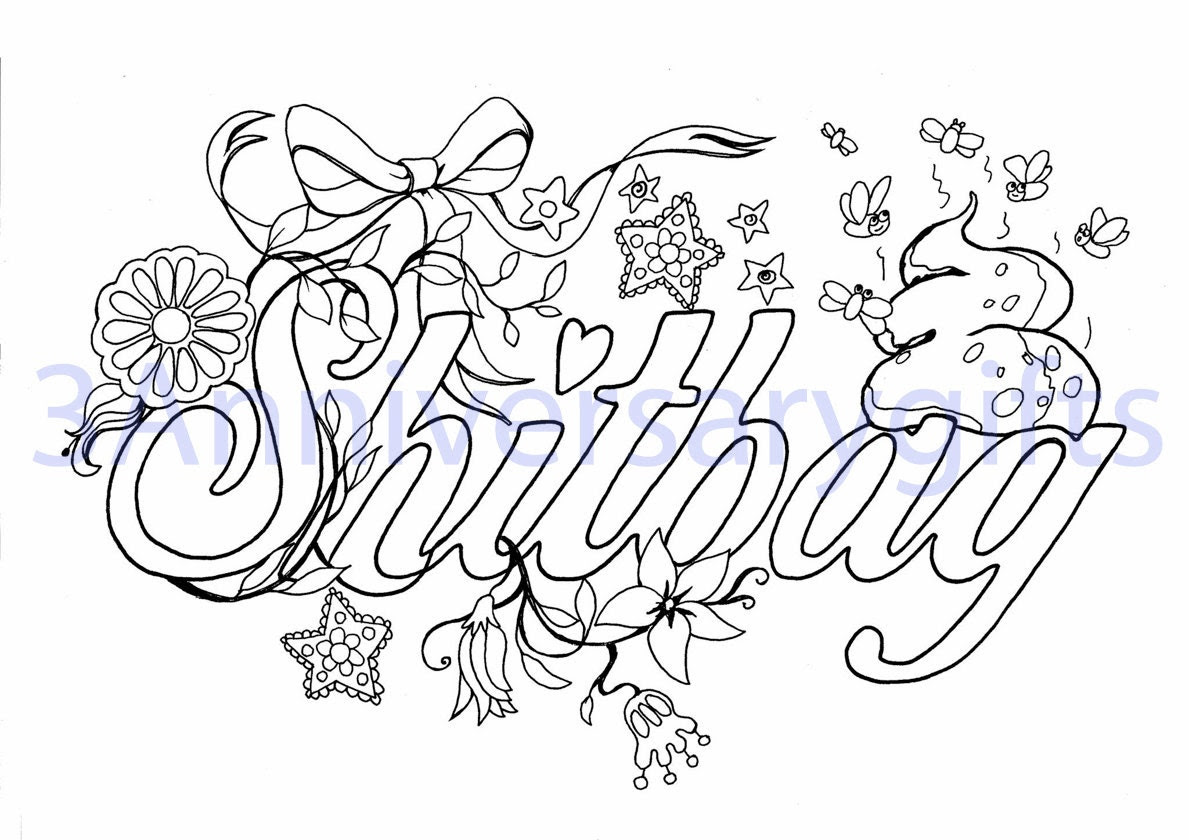 Swear Word Coloring Pages Printable Sketch Coloring Page ...