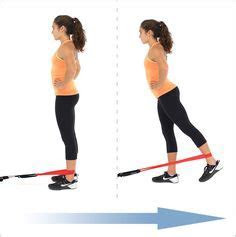 Standing Leg Abduction With Loop Resistance Bands   Fit