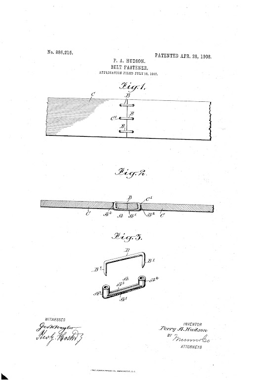 Patent of the Day: Belt Fastener -