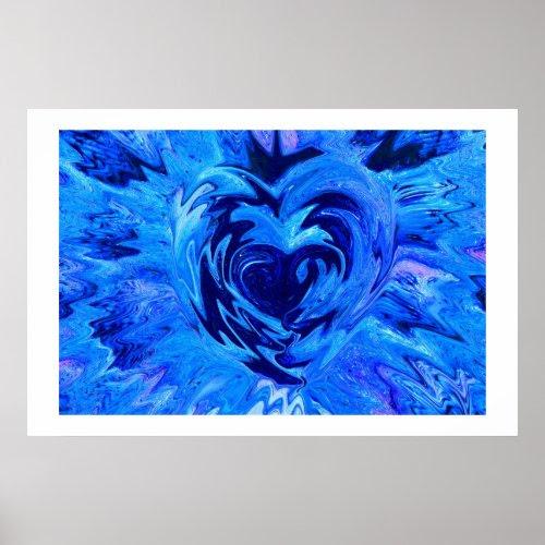 Beautiful Blue Heart print