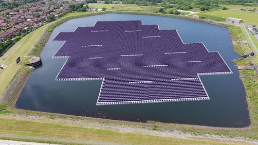 Floating solar farm installation starts in Greater Manchester - BBC News
