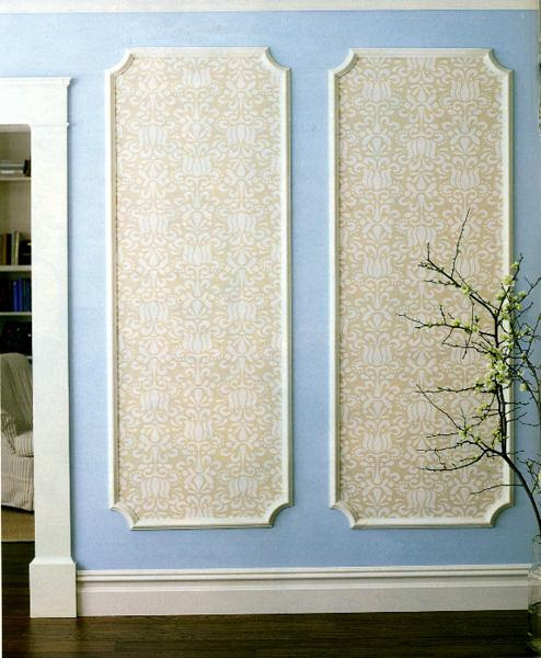 How to: Framed Wall Panels Using Wallpaper