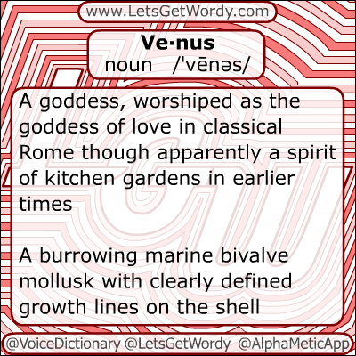 Venus 11/28/2012 GFX Definition of the Day