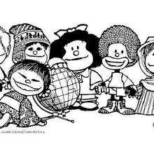 Dibujos Para Colorear Mafalda Seria Eshellokidscom