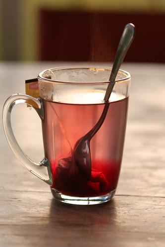 Tea by sunset