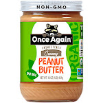 Once Again Nut Butters - Organic Once Again Creamy Peanut Butter Unsweetened & Salt-Free (16 oz.) - Peanut