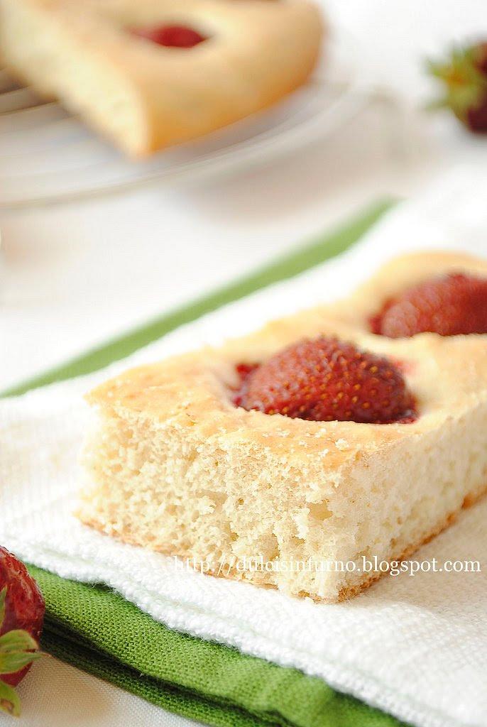 Focaccia alle Fragole-Strawberry Focaccia