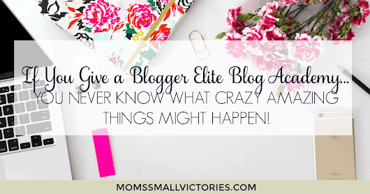 If you Give a Blogger Elite Blog Academy...you never know what crazy amazing things might happen!