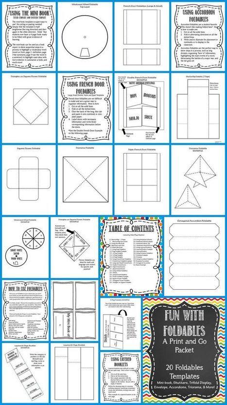 Foldable Fun! 20 EDITABLE Templates: Mini-book,...