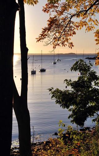 A view of Camden Harbor