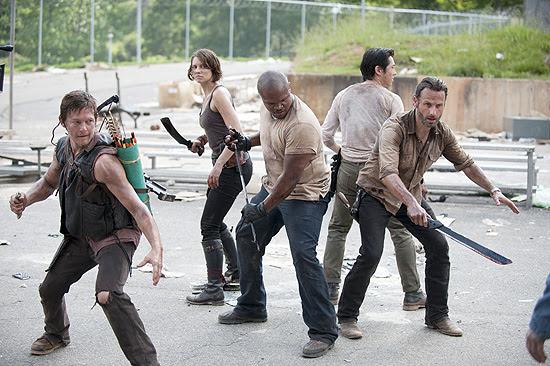"Cena da série ""The Walking Dead"", exibida na Band"