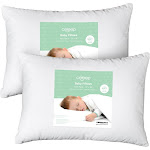"""Celeep Baby Toddler Pillow Set - 13"""" x 18"""" Toddler Bedding Small Pillow - Baby Pillow with 100% Cotton Cover"""