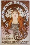 Alphonse Mucha.  Sarah Bernhardt.