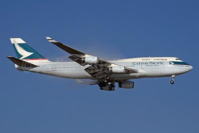 Cathay Pacific Airways Boeing 747-467 B-HUJ (msn 27595) JNB (Paul Denton). Image: 911399.