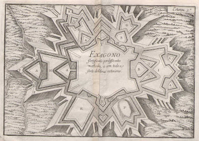 Exagono map of fortification engineering strategies 1729