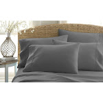 Home Collection Premium Ultra Soft 6 Piece Bed Sheet Set Grey King King