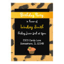 Leopard Fur Pattern Birthday Invitation