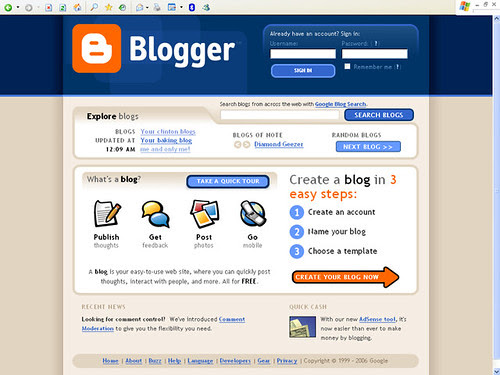Blogger - Login/ Create Blog