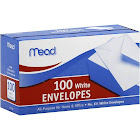 Mead Plain White Envelopes - 100 count