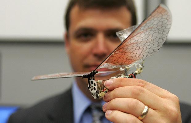 O laboratório de pesquisa tem como missão desenvolver pequenos robôs voadores que podem localizar e encontrar alvos em ambientes complexos. Os testes são realizados dentro de um ambiente fechado onde é possível recolher dados para analisar o desenvolvimento dos aparelhos. (Foto: Skip Peterson/Reuters)